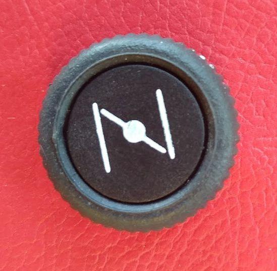 Botão do painel do Fusca acima de 1973 -Afogador