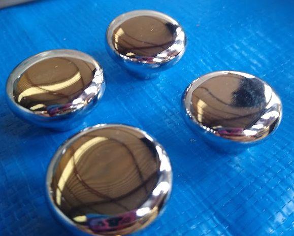 Jogo de botões do painel do Fusca Cromado