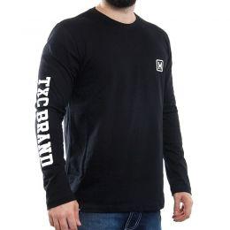 Camiseta TXC Brand Preta manga longa 1159