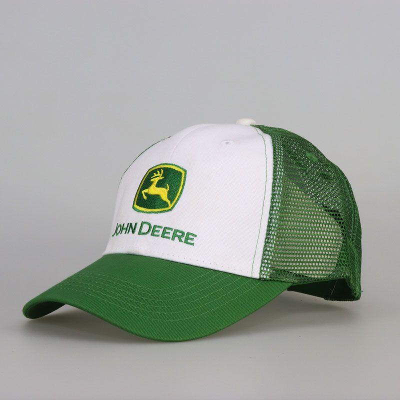 Boné JOHN DEERE Branco/Verde BJD02
