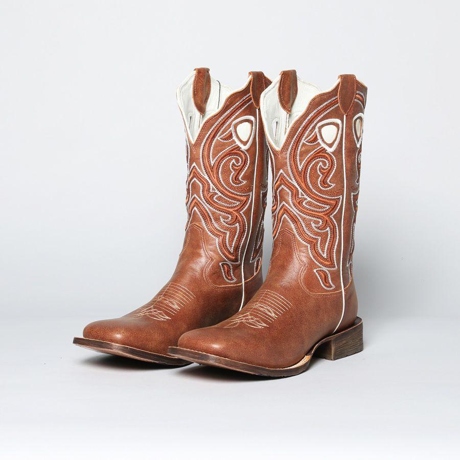 Bota Texas Stars TXO 482-84 Stonado castanho