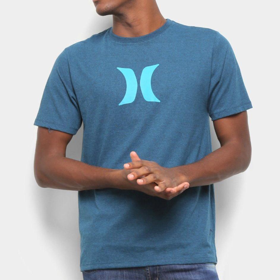 Camiseta Hurley Azul Mescla