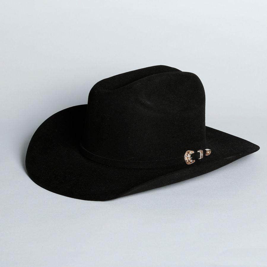 Chapéu Larry Mahans 30x preto cruz de ouro