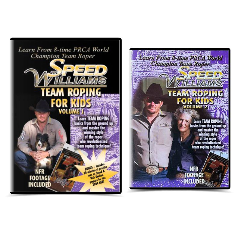 Dvd Speed Williams - Team Roping For Kids vol. 1 e 2