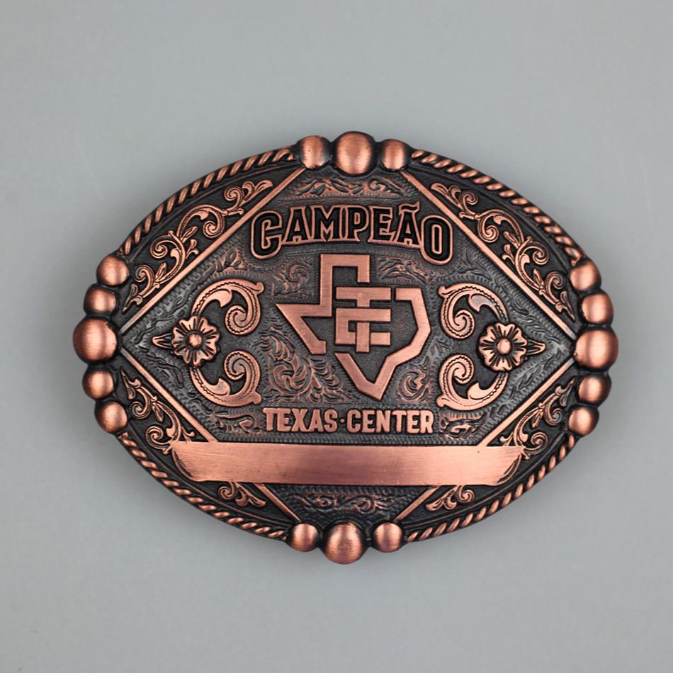 Fivela Texas Center Campeão - oval