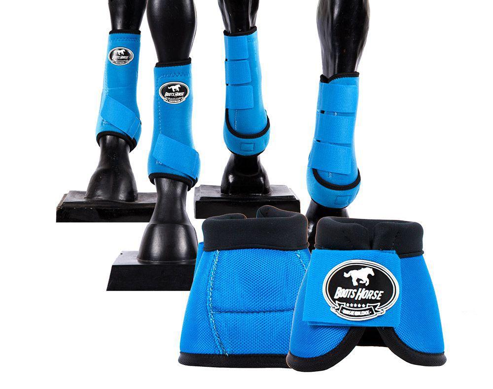 Kit Boots Horse Ventrix Completo Color Azul Turquesa