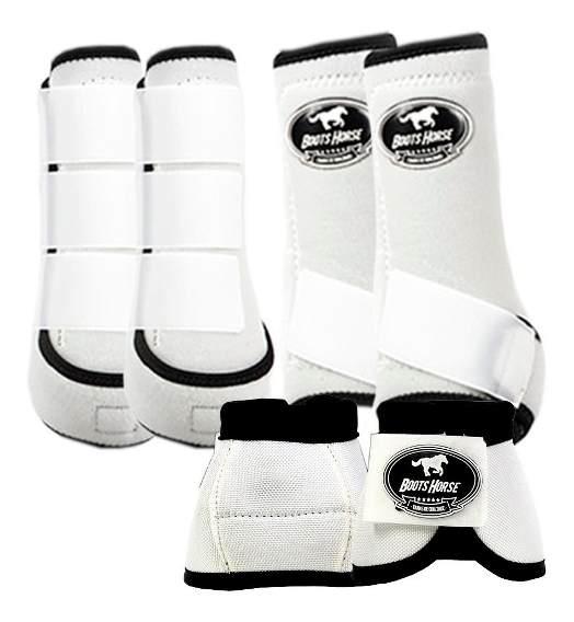 Kit Boots Horse Ventrix Completo Color Branco