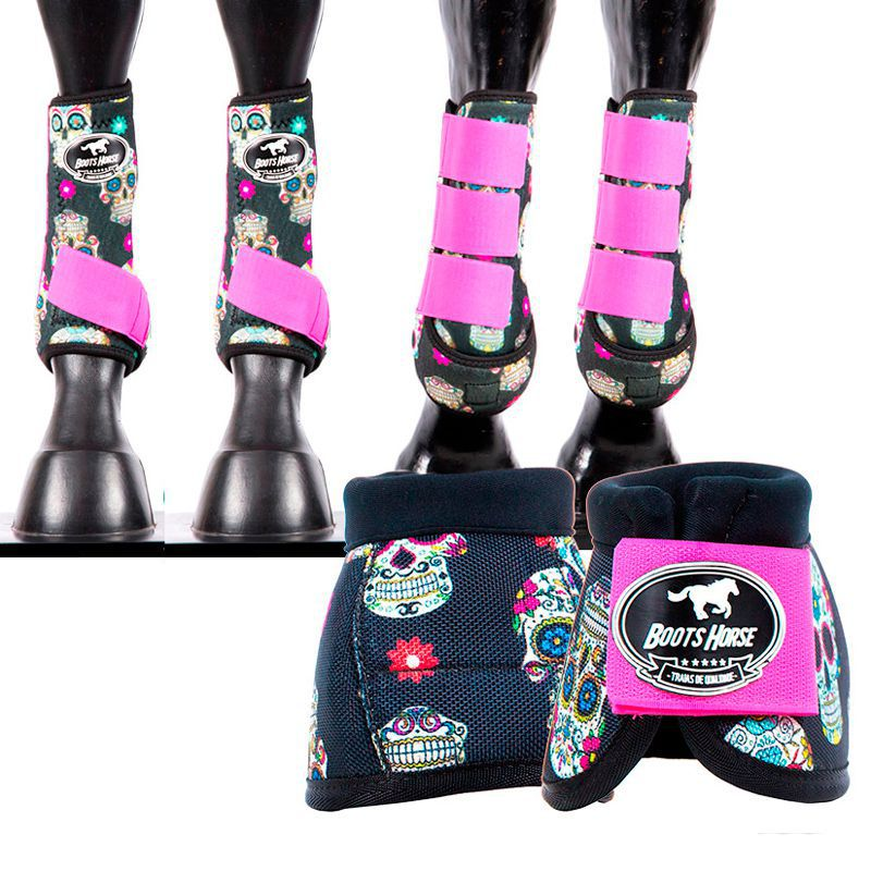Kit Boots Horse Ventrix Completo Estampado 02 caveira
