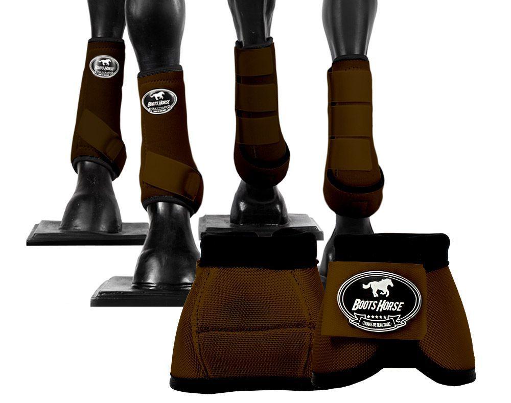 Kit Boots Horse Ventrix Completo Color Marrom