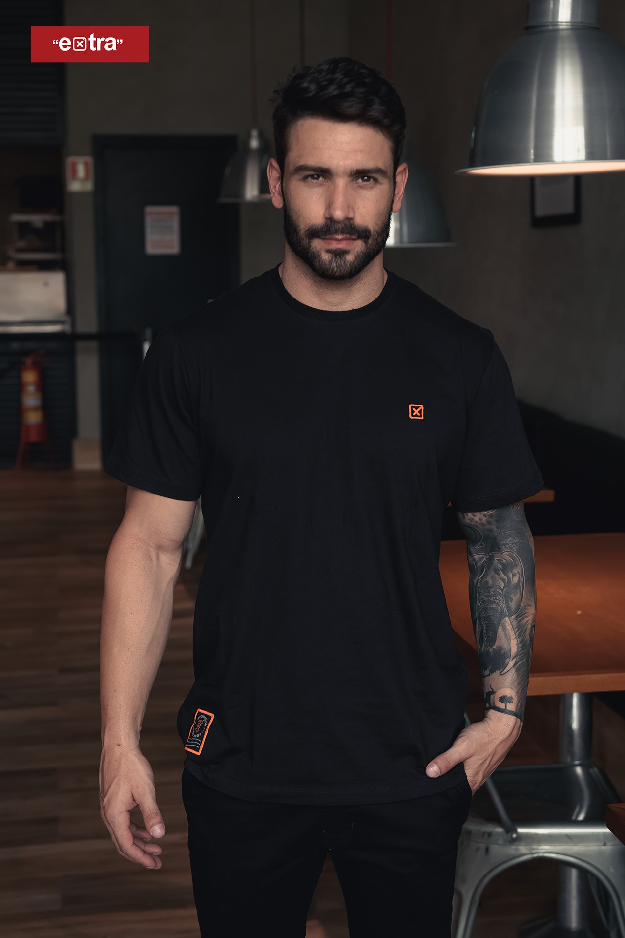 Kit camiseta + máscara masculina x-protection TXC 19163