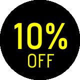 10% off - cal / cas / col / jaq / mol