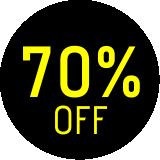 70% off - Calçados