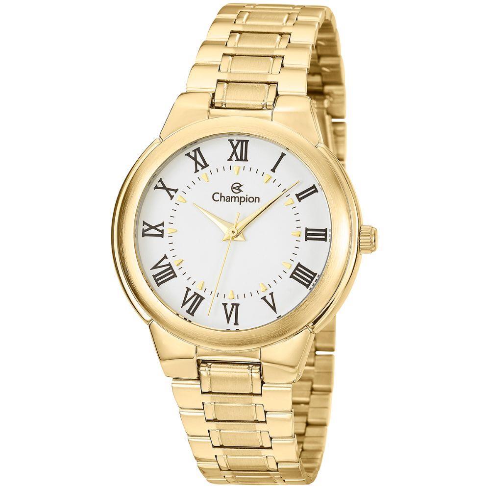 4f855954b5a Relógio Champion Dourado Feminino CH22000H - Hosana Time