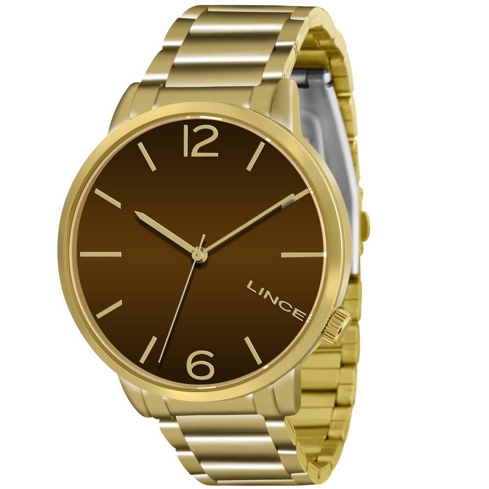 e43f83af543 Relógio Lince Feminino Dourado LRGJ043L N2KX - Hosana Time