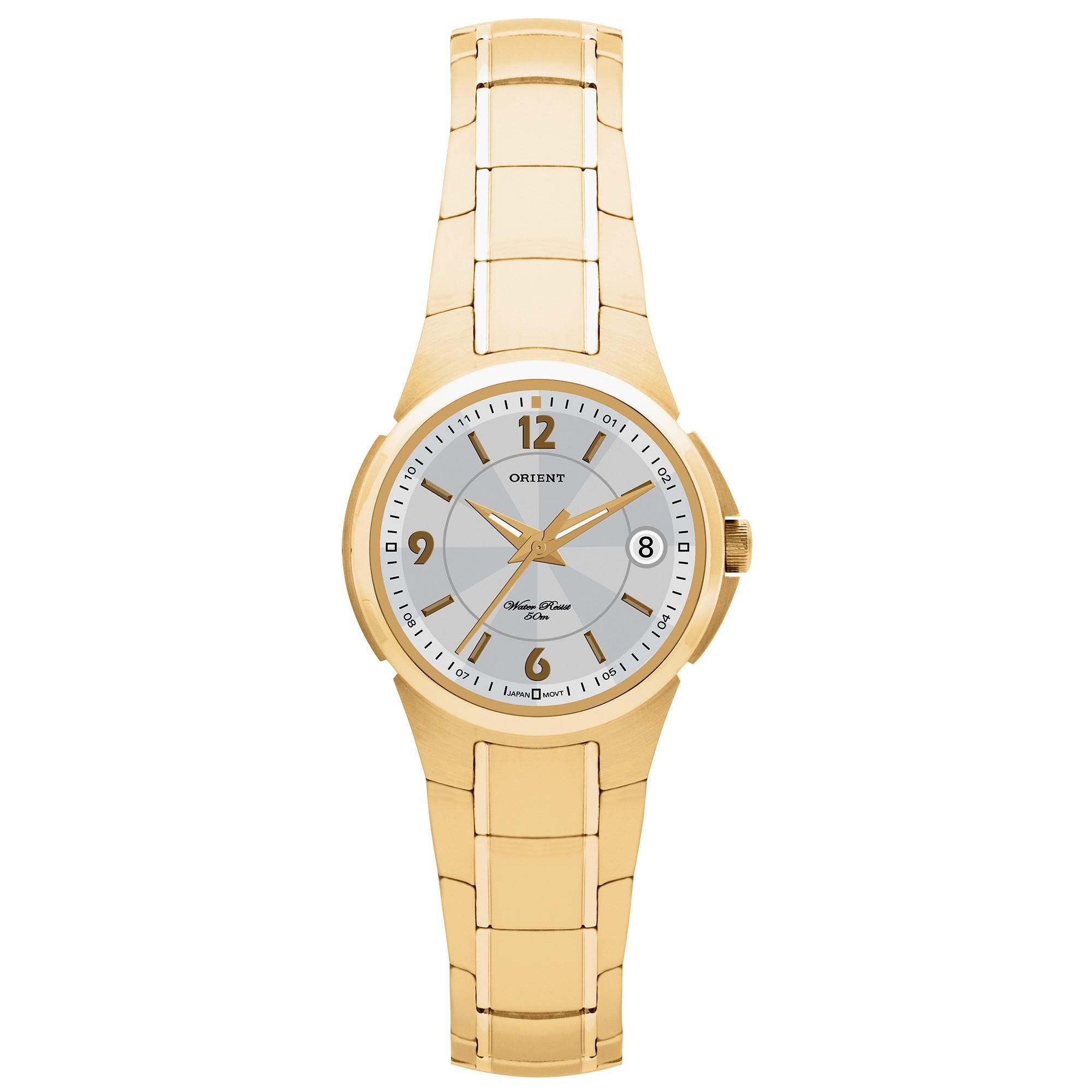 cd0f67c3ff0 Relógio Orient Feminino Dourado Fgss1006 S2kx - Hosana Time