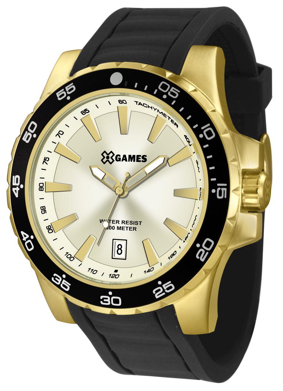 a0483de1852 Relógio X-games Masculino Dourado Xmgp1001 C1px - Hosana Time