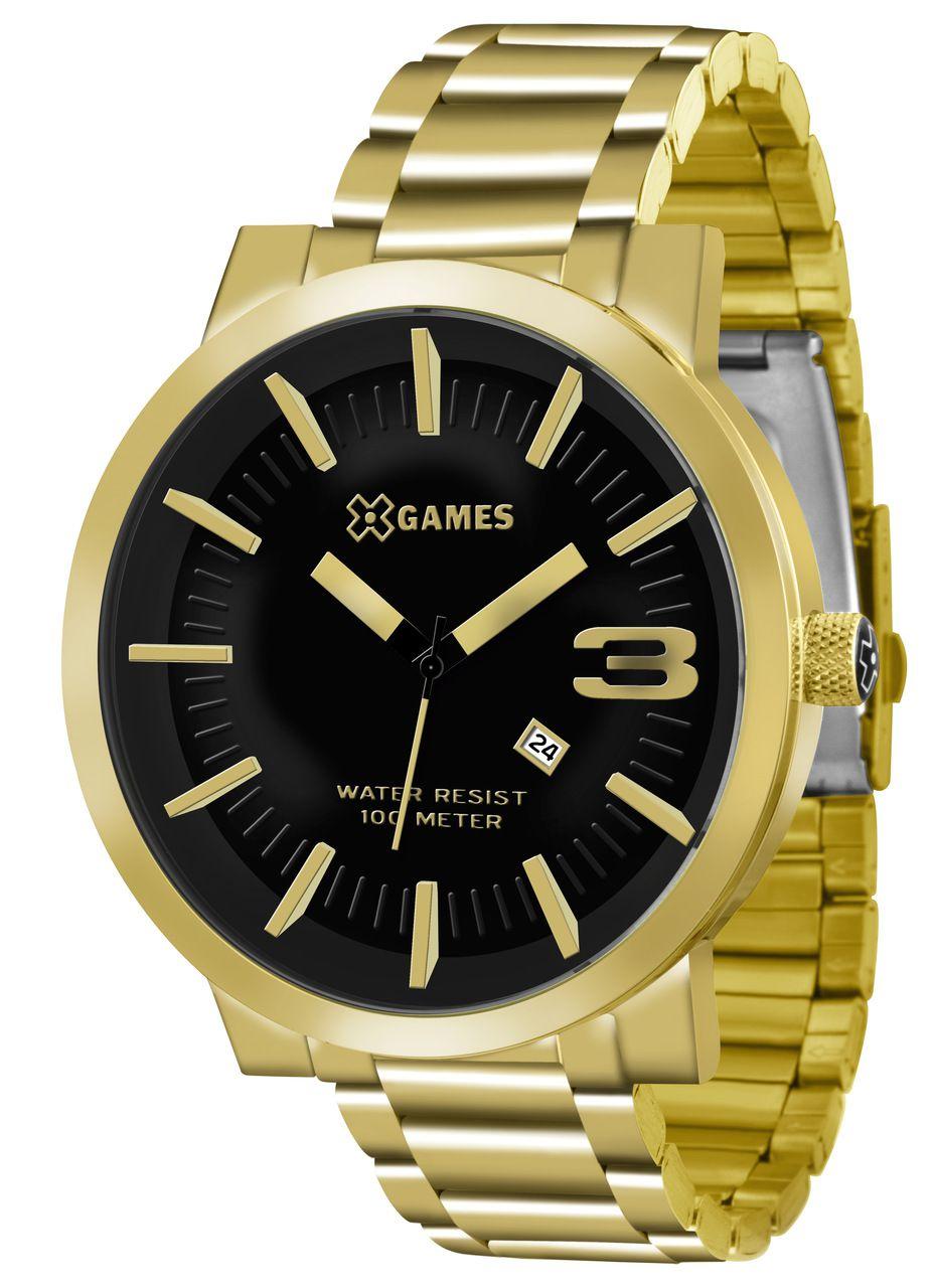 2fcd5f791fb Relógio X-games Masculino Dourado Xmgs1007 P2kx - Hosana Time