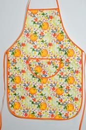 Avental de Cozinha Estampado com Plástico - Abóboras
