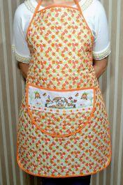 Avental de Cozinha Estampado - Vaquinha Laranja