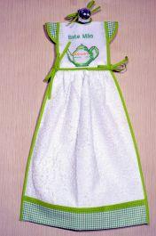 Bate Mão Bordado - Bule Verde