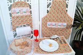 Itens para Cozinha Bordado Ponto Cruz - Floral