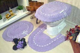 Jogo de Banheiro em Crochê - Algodão Doce