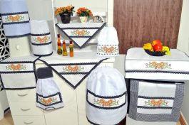 Itens para Cozinha em Ponto Cruz - Girassol