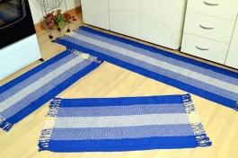 Jogo de Passadeira Listrado - Degradê Azul