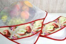 Kit Cobre Alimentos com 2 Peças - Maçã