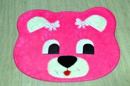 Tapete de Pelúcia Infantil - Ursa Pink