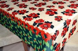 Toalha de Mesa Oxford Natal  - Flores e Laços