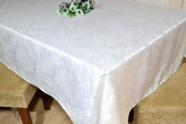 Toalha de Mesa Retangular Jacquard - Off White