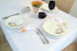 Toalha de Mesa Retangular Oxford Liso - Branca
