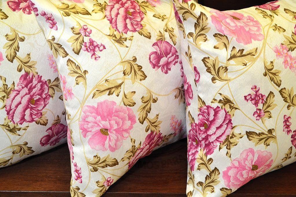 Capa de Almofada Floral Rosa