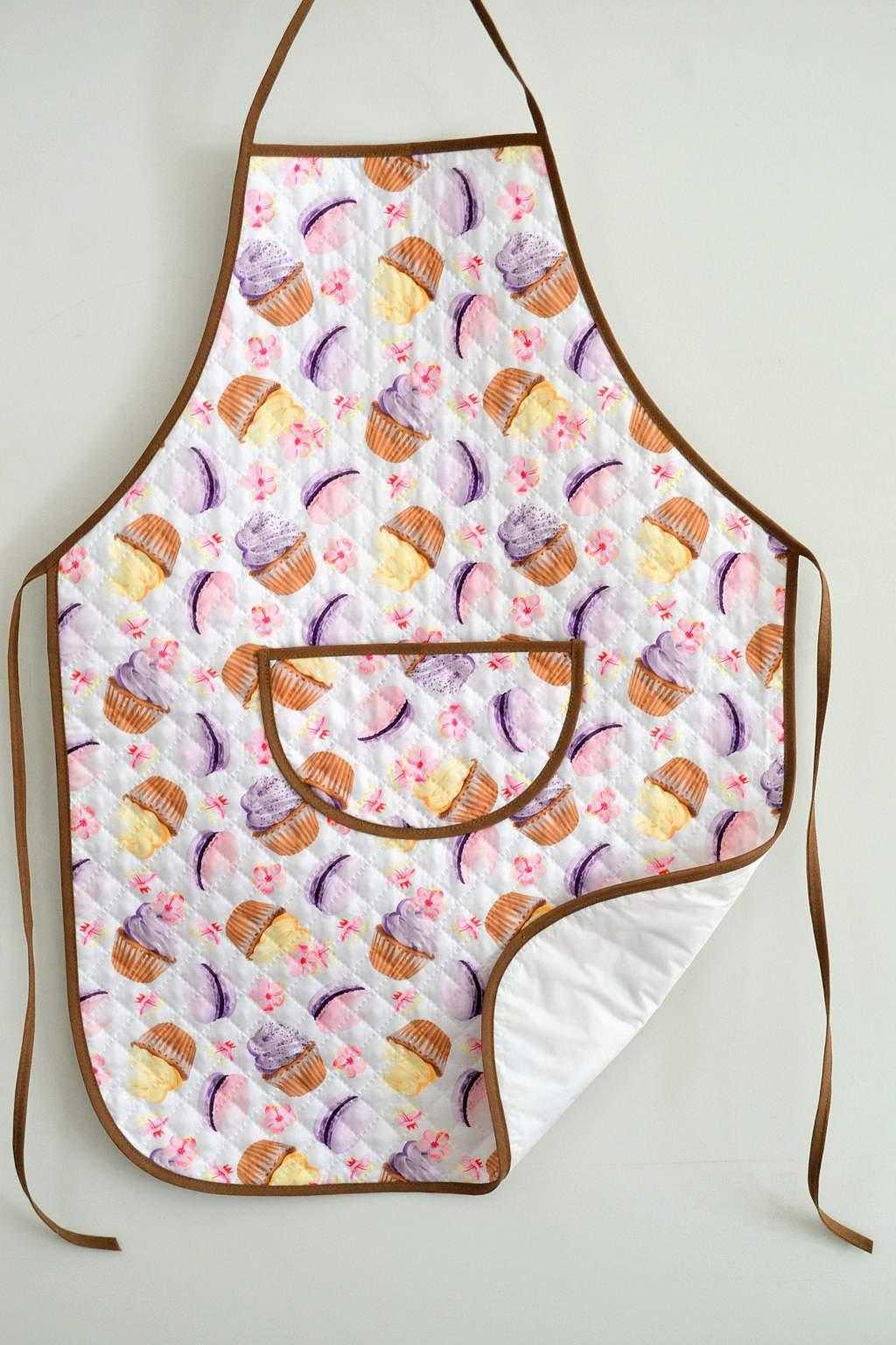 Avental de Cozinha Estampado com Plástico - Doces