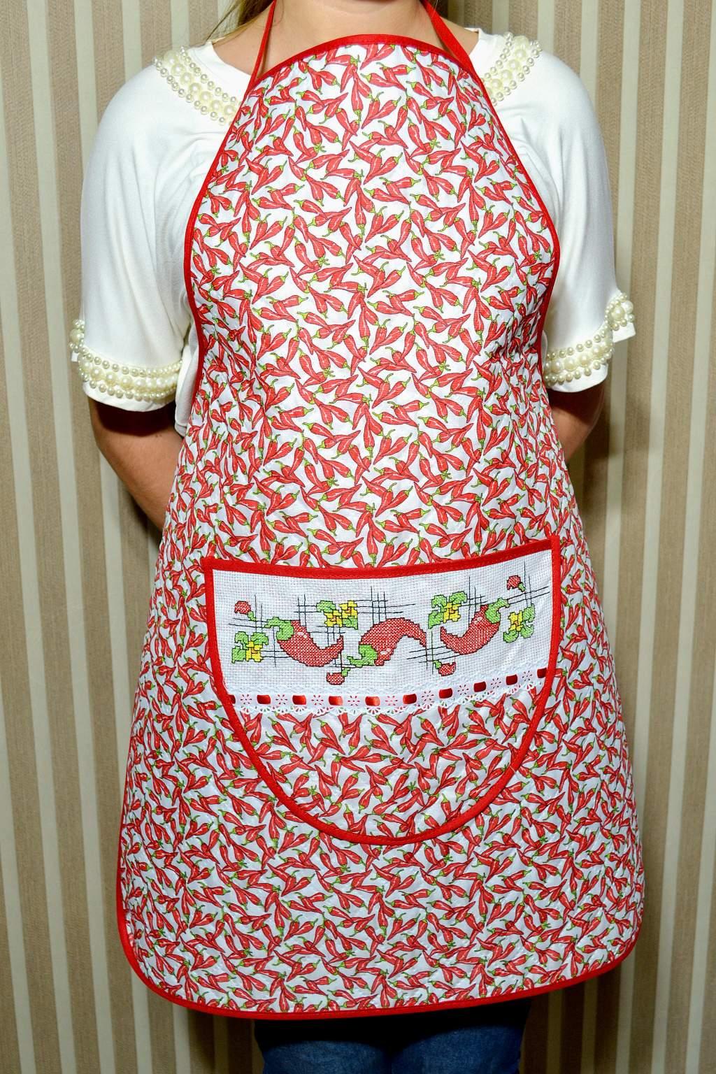 Avental de Cozinha Estampado - Pimentinhas