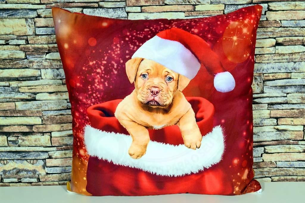 Capa de Almofada Natal - Dog
