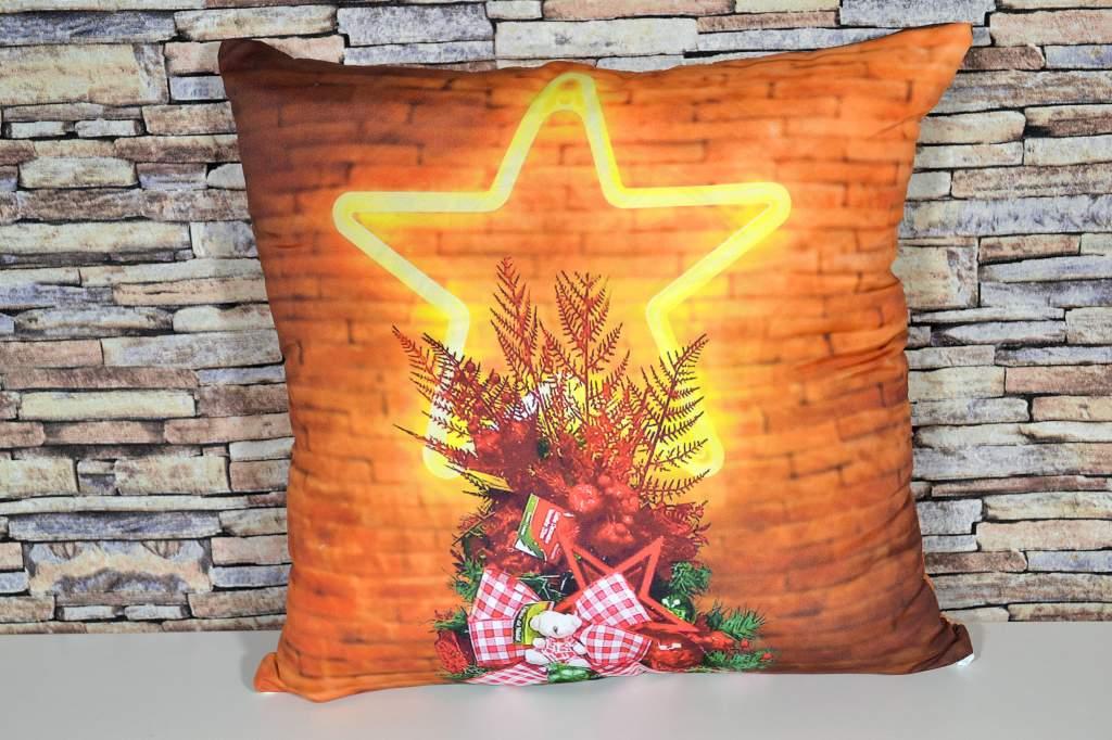 Capa de Almofada Natal - Estrela de Natal