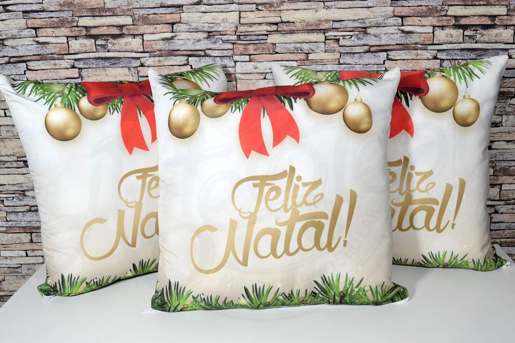 Capa de Almofada Natal - Feliz Natal