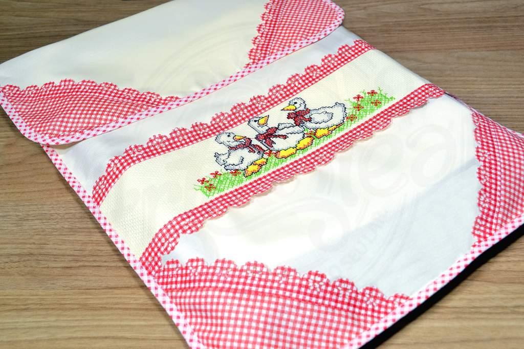 Capa para Assadeira Patinhos Engravatados
