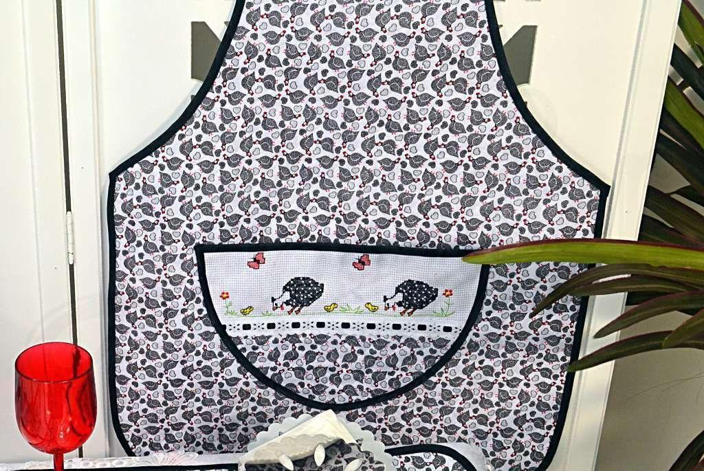 Itens para Cozinha Bordado Ponto Cruz - Galinha