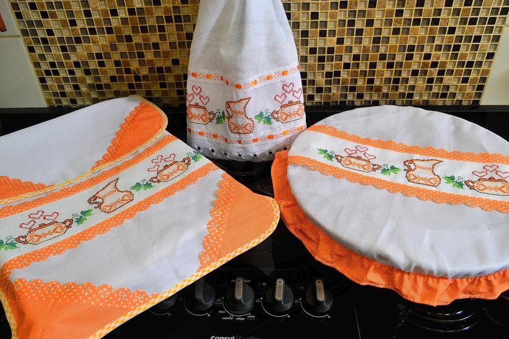 Itens para Cozinha Bordado Ponto Cruz - Jarrinho