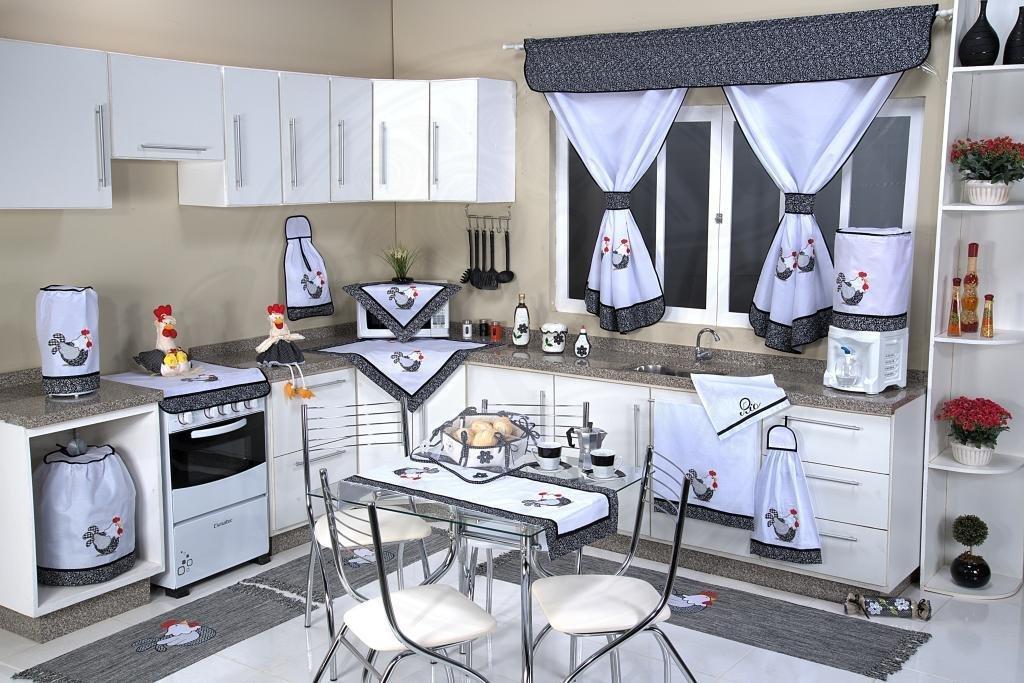 Itens para Cozinha em Patchwork - Galinha