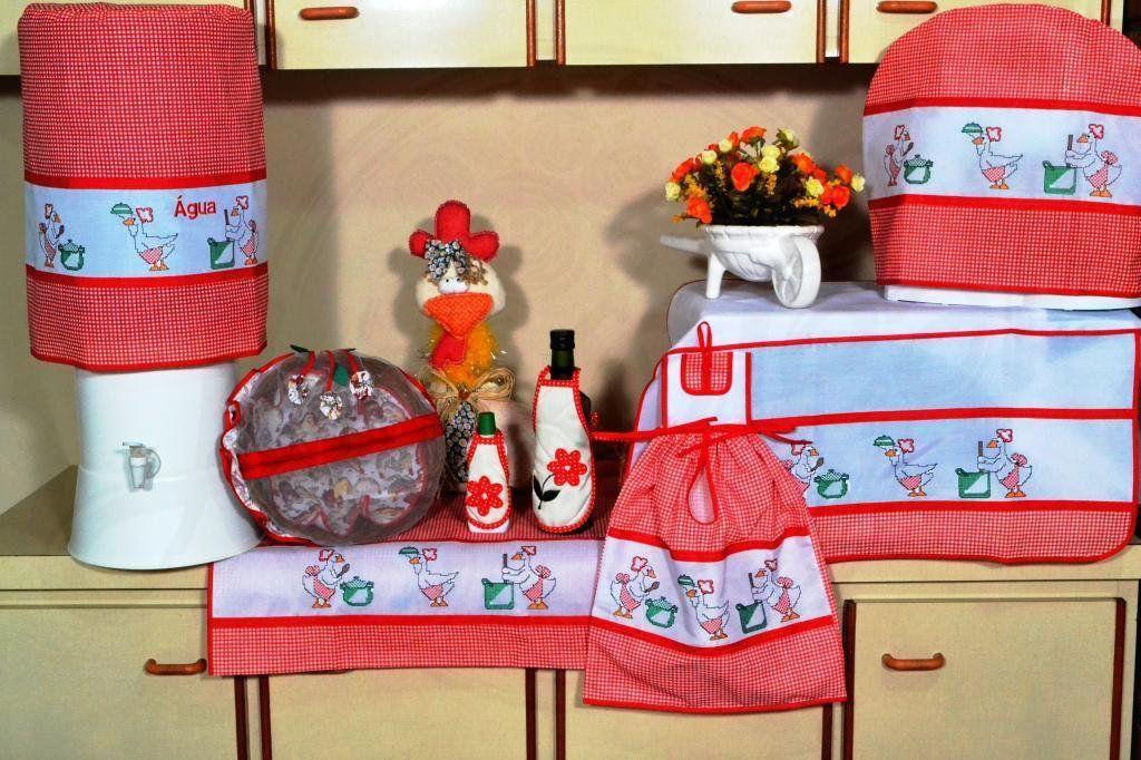 Itens para Cozinha em Bordado Ponto Cruz - Pato Cozinheiro