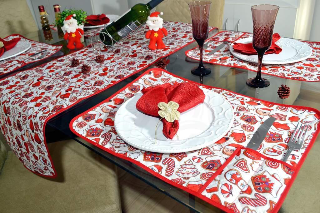 Jogo Americano Matelado e Caminho - Encantos de Natal