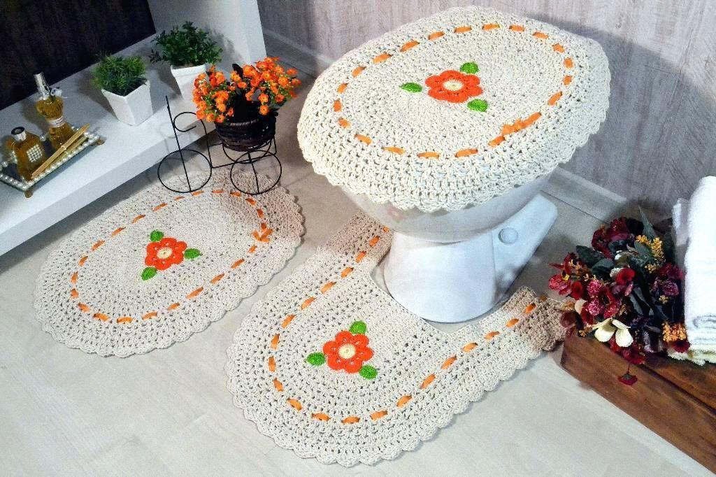 Jogo de Banheiro em Crochê Lisandra