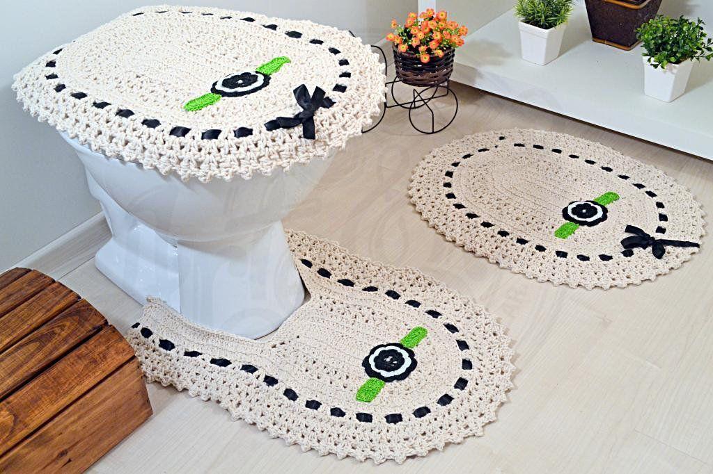 Jogo de Banheiro em Crochê Rosane