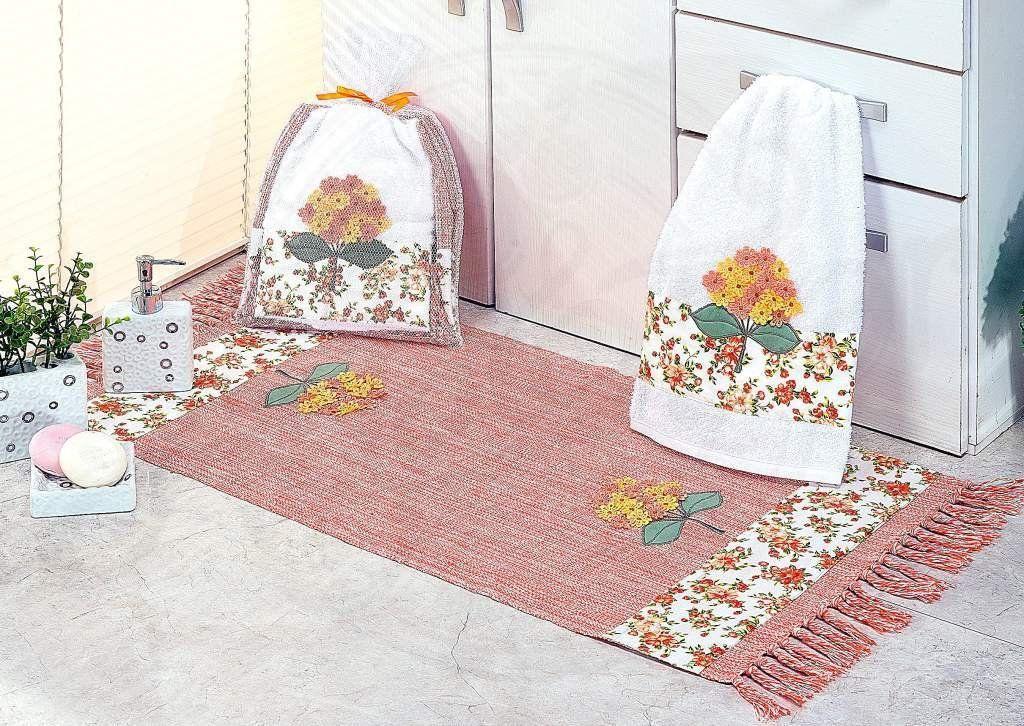 Kit de Lavabo Bordado Susan