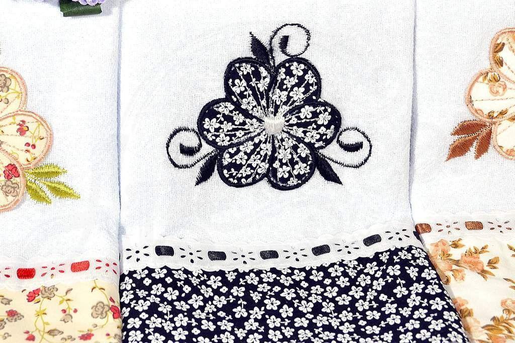 Kit Pano de Pratos com 3 peças -  Flower