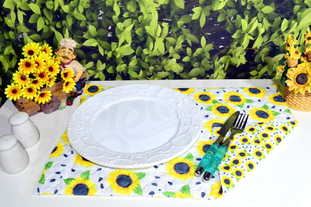 Lugar Americano Individual Dupla Face - Flor de Girassol